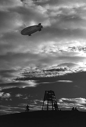 Whitmans Airship over St Kilda, Melbourne