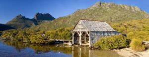 Dove Lake Boathouse, Cradle Mountain, Tasmania